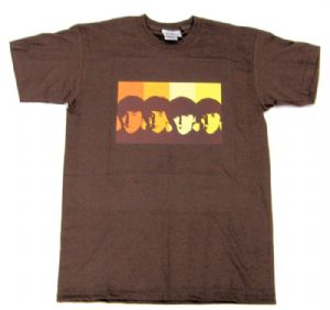 Beatles Retro Mens Chocolate T-Shirt